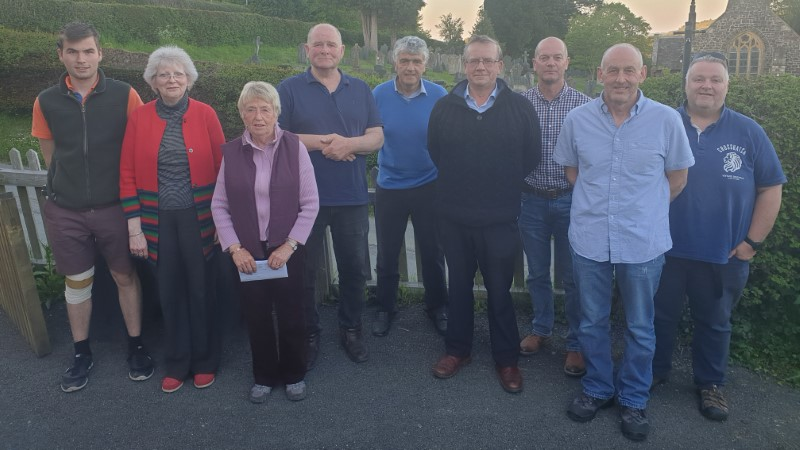 Mochdre with Penstrowed Community Councillors and Clerk